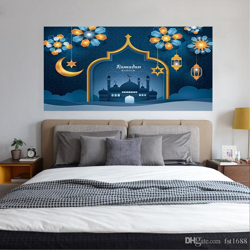 Ramadan Muslim Arabic Art Vinyl Decal Islamic Moon Headboard Sticker Bedside Poster Living Room Home Decoration Removable Wallpaper Adhesive Wall Decals Adhesive Wall Stickers From Fst1688 29 1 Dhgate Com