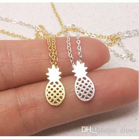 Shuangshuo новая мода колье ожерелье цепь ананас ожерелье фрукты ананас кулон ожерелья Для женщин партии подарок