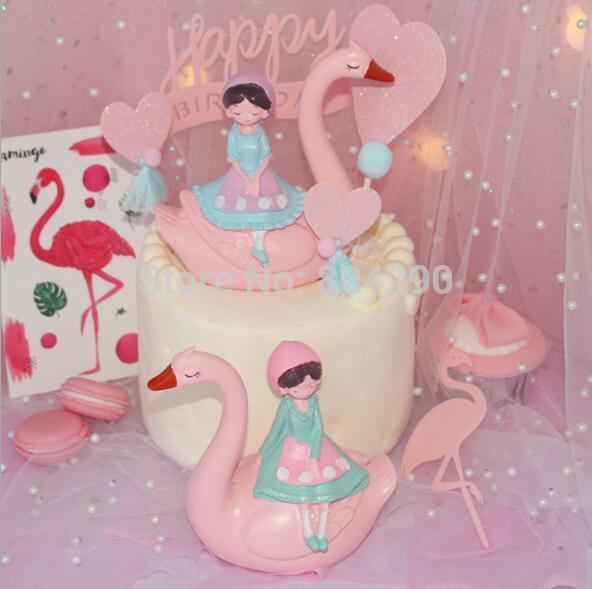 Compre Swan De Rosa Com A Menina Pink Flamingo Com Festa De