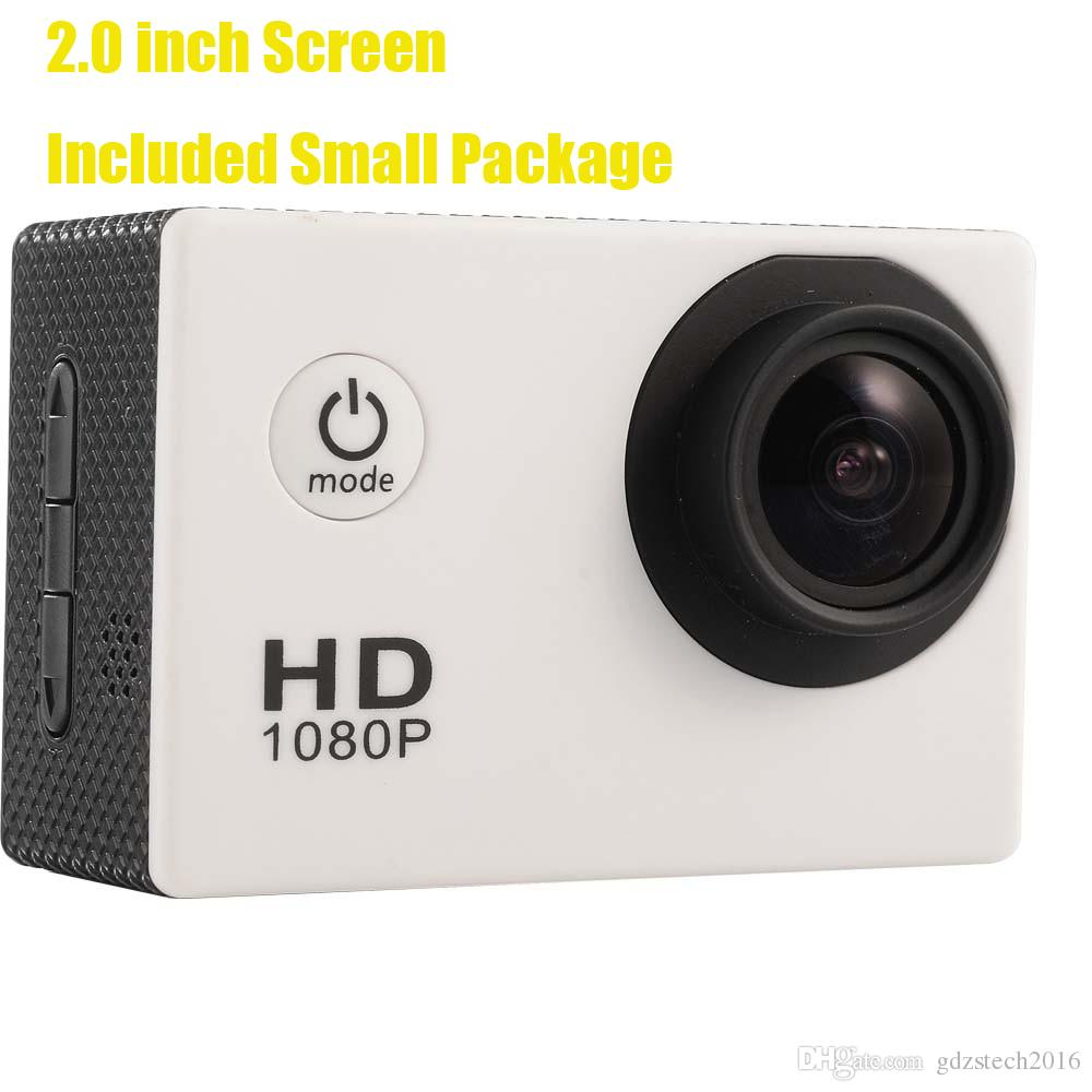 Hot selling A9 sports camera90 degree 2.0 inch LCD sports DV HD1080P 30m waterproof outdoor action video camera
