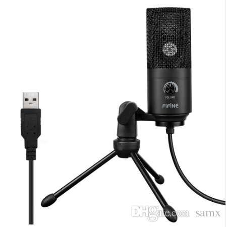 PC Laptop için Kayıt Fonksiyonu ile FIFINE K669 USB Kablolu Mikrofon