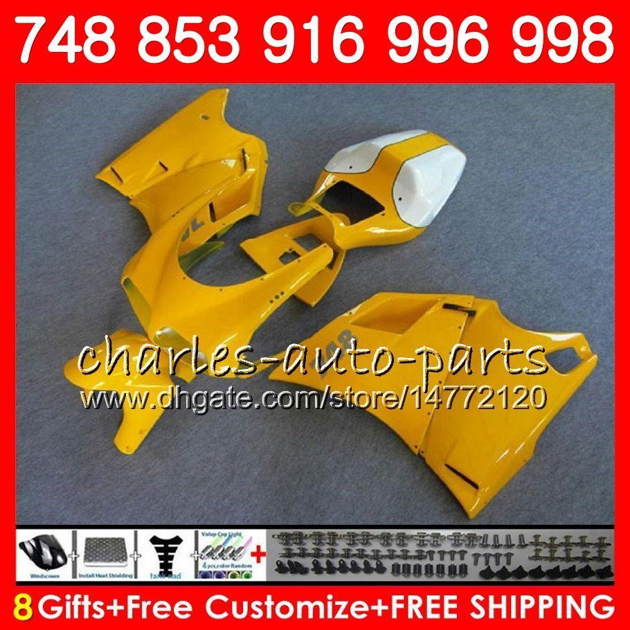 Kit For DUCATI 748 853 916 94 95 96 97 98 99 00 01 02 104HM26 996 998 S R pearl yellow 1994 1995 1996 1997 1998 1999 2000 2001 2002 Fairing