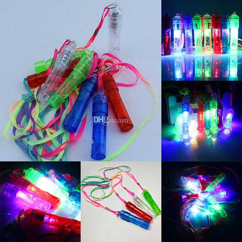 LED Flash Whistle Colorful Luminous Noise Maker Kids Children Toys Birthday Party Festival Novelty Props Christmas Party Supplies WX9-789