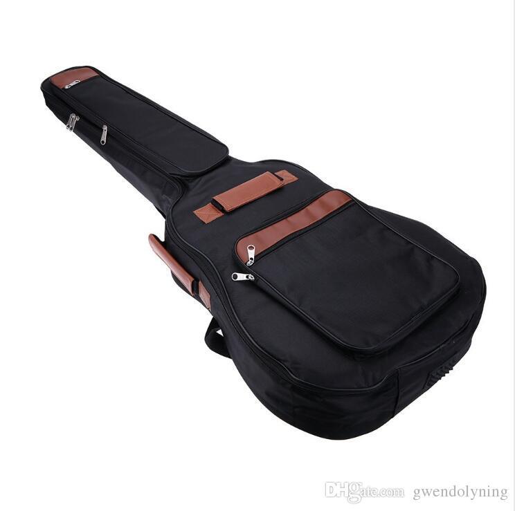 """41"""" Guitar Backpack Shoulder Straps Pockets 8mm Cotton Padded Gig Bag Case Free SHipping"""