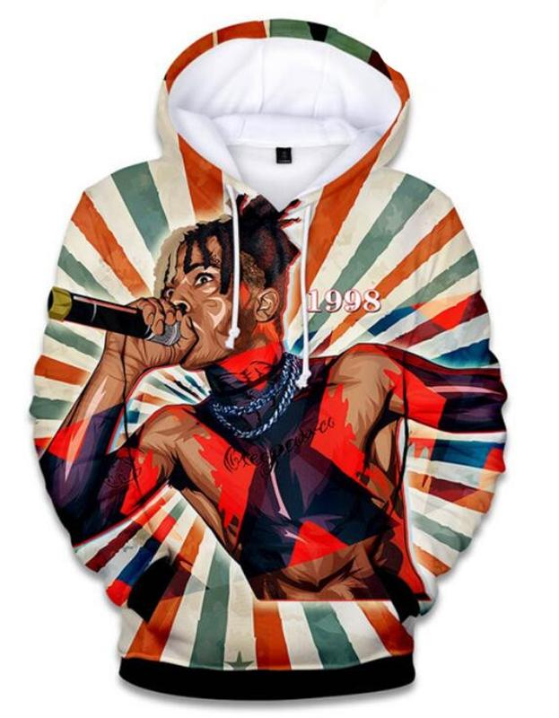 XXXTENTACION Rapper R.I.P 3D Impreso Pullover Hoodies / sudaderas con capucha para Mujeres / hombres X06