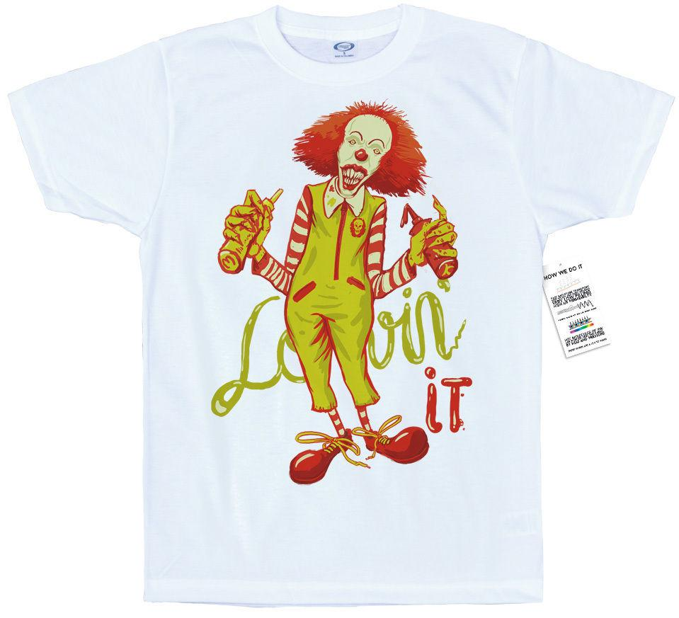Я люблю его футболку искусства, это, ужас, Макдональдс, Стивен Кинг