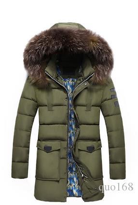 Traje de invierno 2018, ropa de algodón de los nuevos hombres, versión coreana, collar de pelo delgado, chaqueta de algodón con capucha media larga engrosada con capucha m-2L