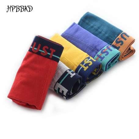 5 teile / los Einfarbig Jungen Höschen Baumwolle Kinder Atmungsaktive Unterwäsche Boxer Höschen Für Jungen Kinder Shorts Hosen BU019