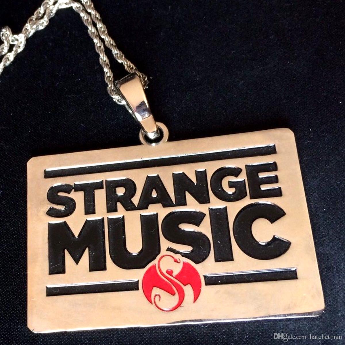 STRANGE MUSIC CHARM PENDANT Tech N9ne Collana in acciaio Jewellery Juggalo NOVITÀ