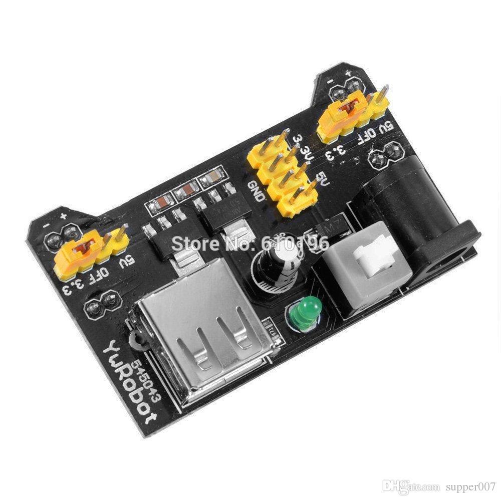2PCS MB102 Breadboard Power Supply Module 3.3V 5V For Arduino Solderless new