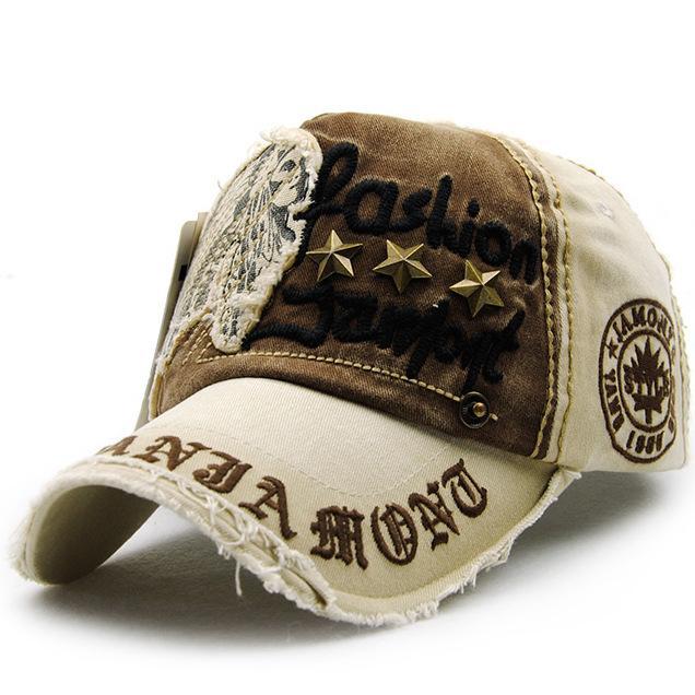 6 colores retro remache bordado letra gorra de béisbol - para mujer para hombre verano ocasional snapback hip hop gorras visera gorras de camionero