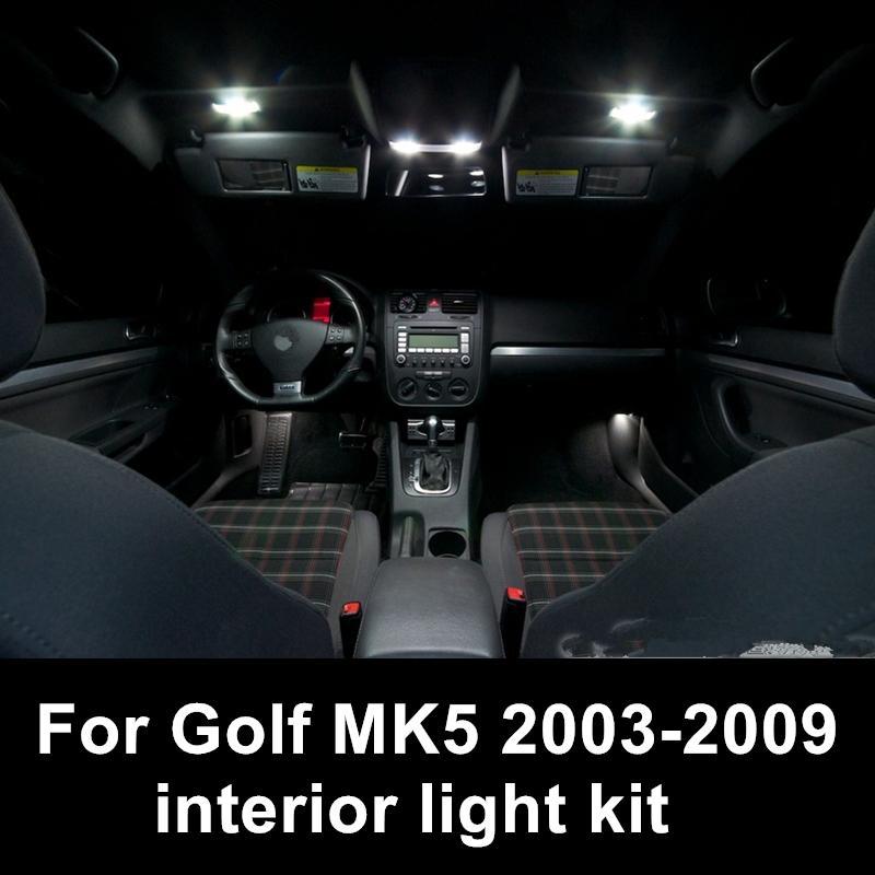 Shinman 12 adet hata ücretsiz Okuma Lambası Araç İç Işık Aksesuarları volkswagen VW Golf / GTI MK5 2003-2009