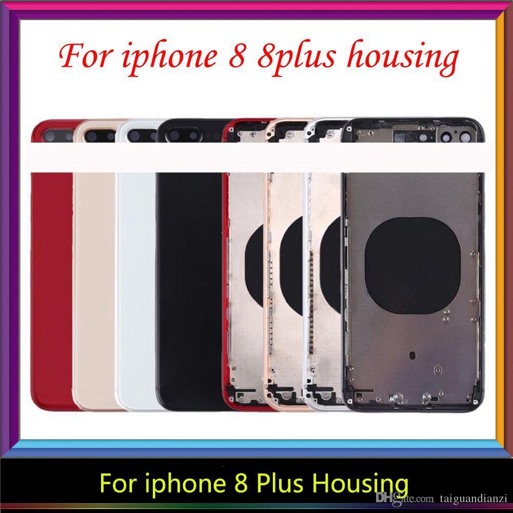 Para iPhone 8G 8 8 Plus Volver vivienda Medio bastidor del chasis asamblea de la cubierta completa de la cubierta de la batería para el iphone 8 más de Vivienda, envío libre