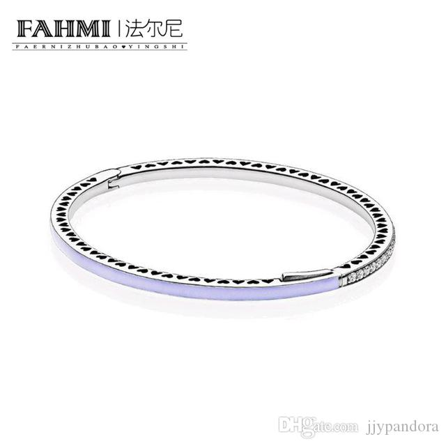 FAHMI 100% 925 plata esterlina 1: 1 Original auténtico 590537EN66 encanto pulsera básica conveniente DIY joyería moldeada de las mujeres