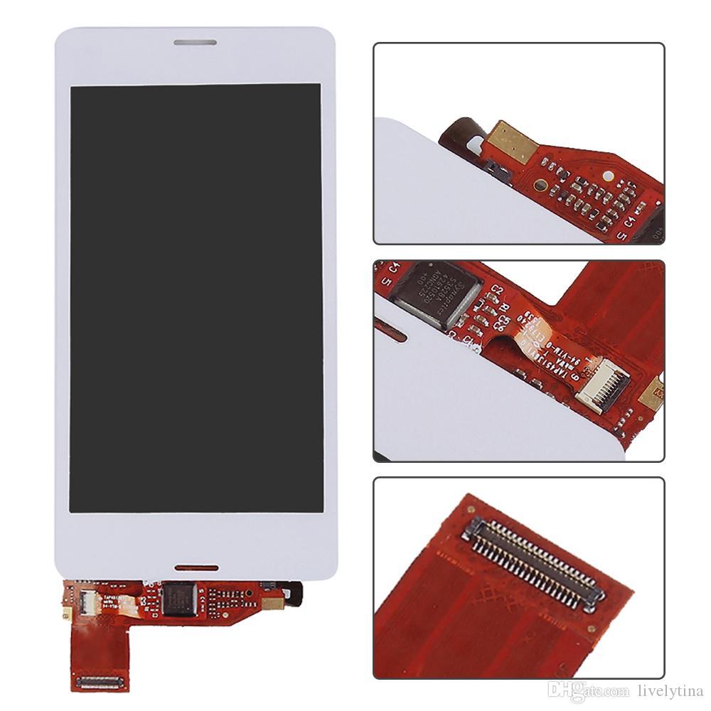 Sony Xperia Için Z3 kompakt lcd Z3 Mini Kompakt D5803 D5833 LCD Ekran Dokunmatik Ekran Digitizer Meclisi ile Sony Z3 mini lcd Için