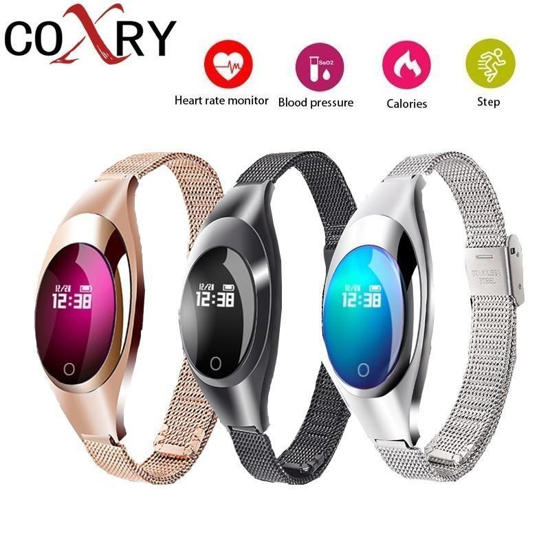 COXRY Smart Watches Blood Pressure Heart Rate Monitor Sleep Pedometer Waterproof Digital Watch Bracelet Sport Watches For Women S915