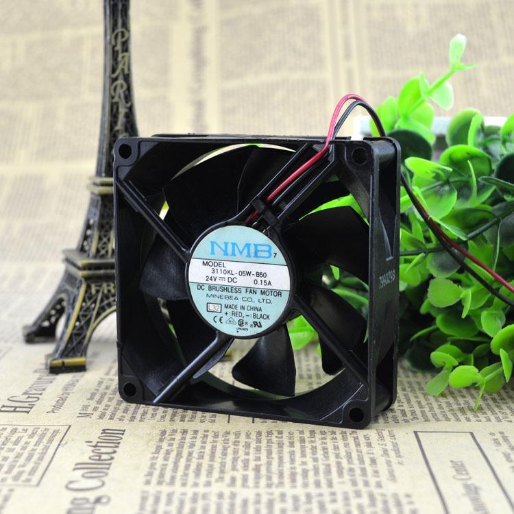 Pour NMB 3110KL-05W-B50 original ventilateur de refroidissement à inverseur à 2 fils 24V 0.15A 8CM 8025
