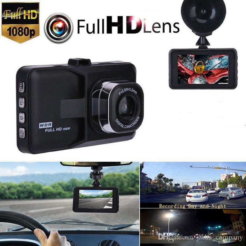 """3.0 """"Araç 1080 P Araba DVR Dashboard Dash kamera Kamera Video Kaydedici G-Sensor GPS Ücretsiz Kargo"""