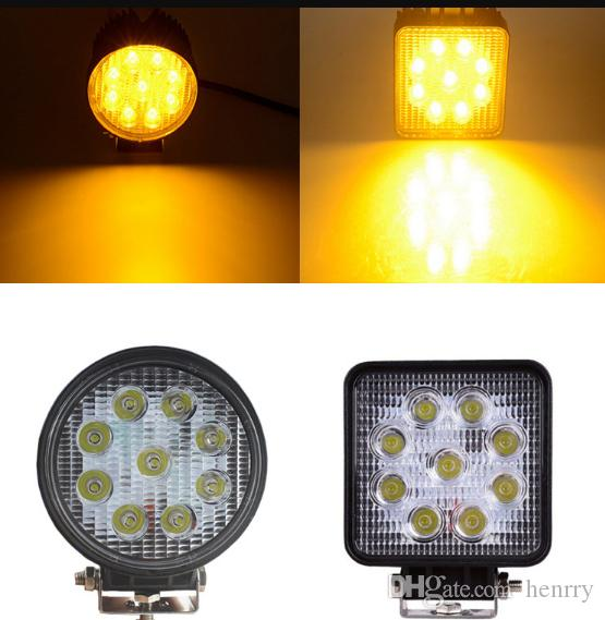 LED Working Gold Yellow Light Engineering Lamp Flood Lamp Car Truck Off-road Vehicle Motorcycle Tractor Truck Trailer SUV JEEP Bus Fog-proof