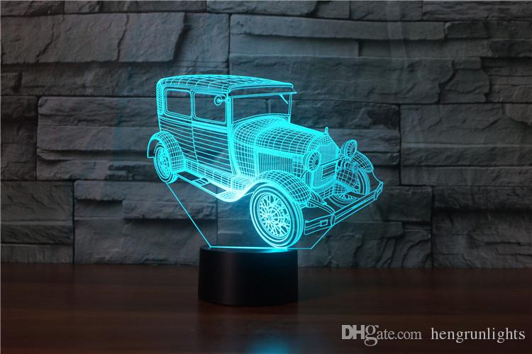 Model 3D Nightlight Kids Bedroom LED table Night Lamp Car Decorative Lighting as Daddy Pilot Gift