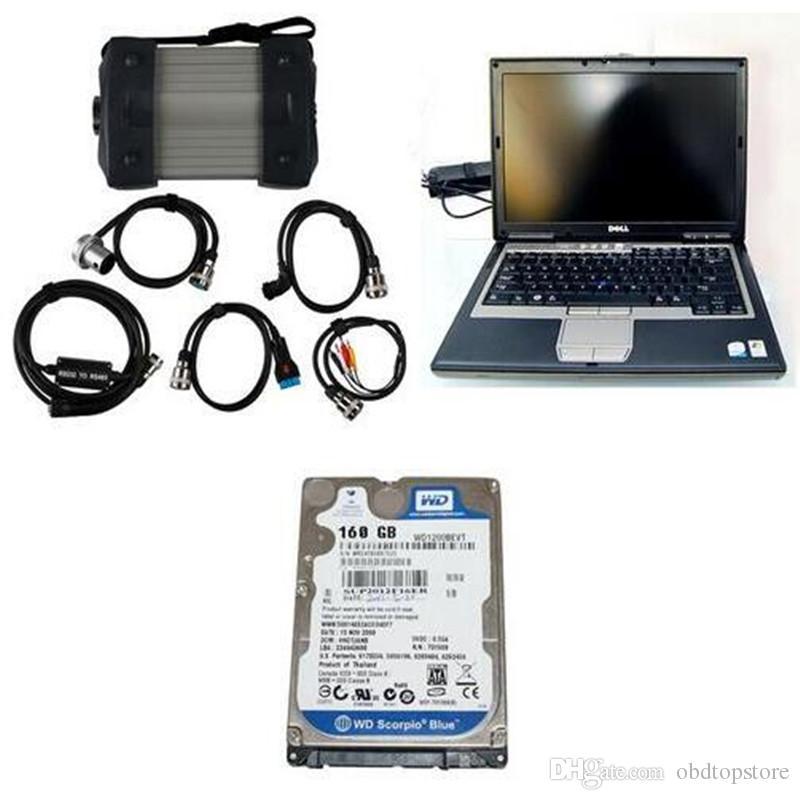 2015.07 Versão Top-rated Professional MB Tester MB C3 Star M-Ercedes B-Enz Diagnóstico Multiplexer com laptop D630 Frete Grátis