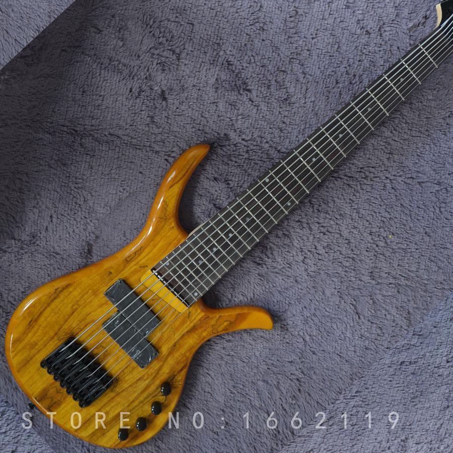 Factory custom Mayones bass guitar 7 strings ashwood body with rosewood fingerboard black hardware musical instrument shop
