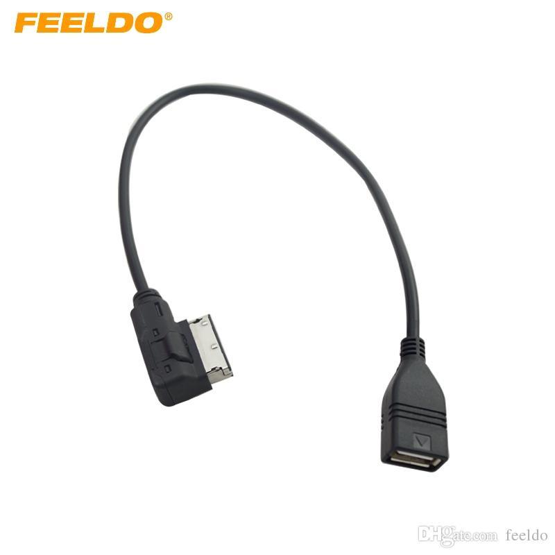 FEELDO Car Audio Música interfaz AMI / MDI / MMI al cable del adaptador USB para Audi A3 / A4 / A5 / A6 / VW TT / Jetta / GTI / GLI / Passat / CC / Touareg / EOS # 1557
