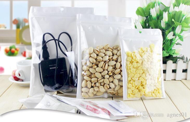 Größe Qualität klar Bester Reißverschluss Perle Kunststoff Poly OPP Packung Schmuck Reißverschluss Verfügbar Kunststoff Packungen Weißer Einzelhandel PVC Food Bag Viele Loc LTJG