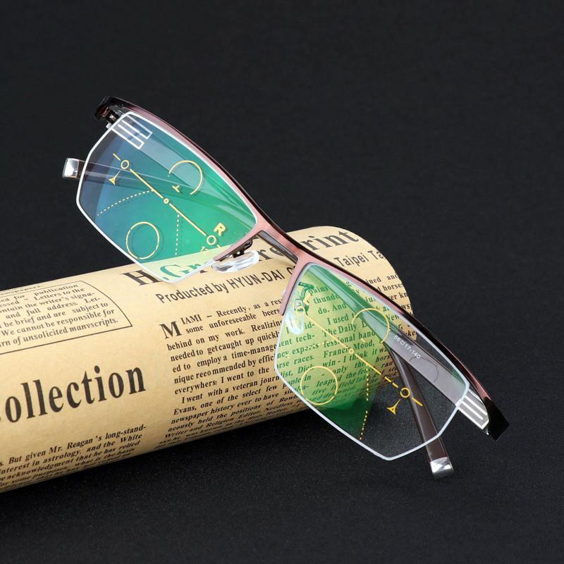 النظارات الشمسية متعددة البؤر القريبة والبعيدة التركيز من نظارات القراءة التقدمي للرجال والنساء