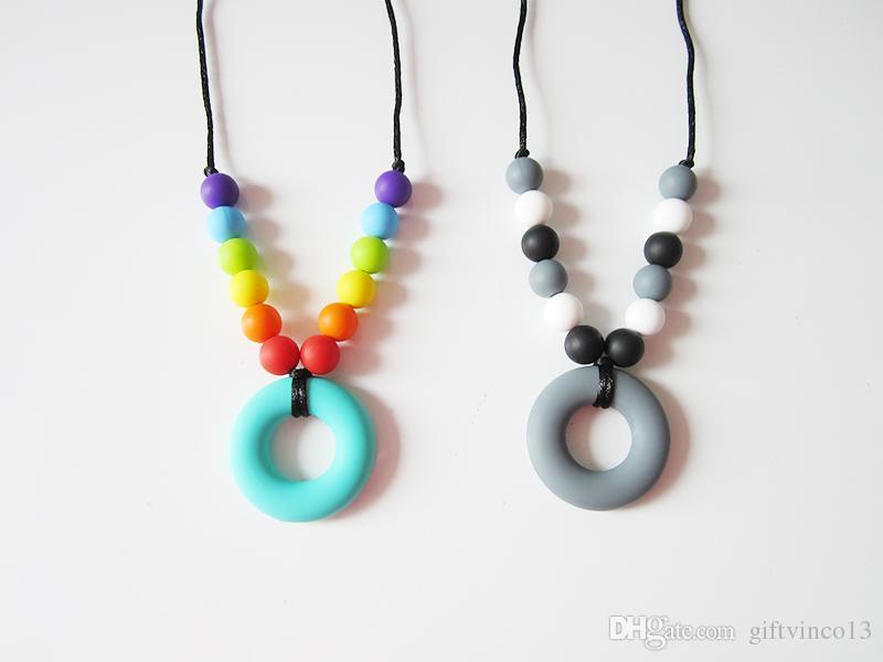 sensory necklace Jewellery Autism chewlery was teething Silicone Pendant