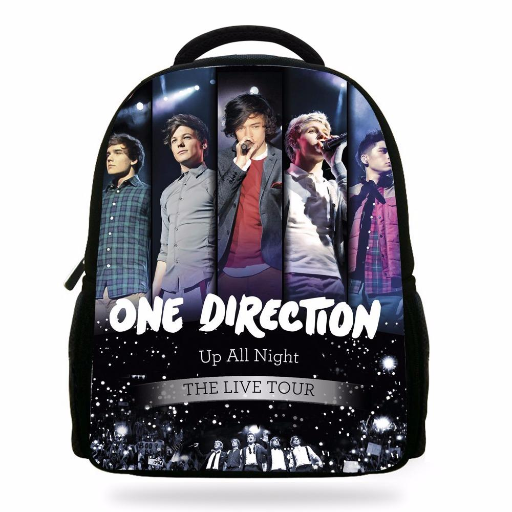 Nuovi arrivi One Direction Character Book Borse per bambini Super Star print Backpack For Kids School Boys Girls