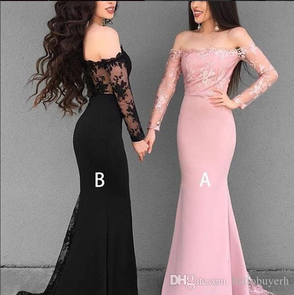 Long Mermaid Bridesmaid Dresses Light Pink Designs Sleeves For Cheap Sexy Evening Prom Dresses