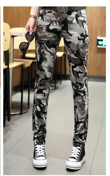 Compre El Nuevo Pantalon De Camuflaje Verde Para Mujer Pantalon Delgado Con Muchos Pantalones De Diseno Militar Grande Para Ninas Pantalones De Marca Nueva A 26 94 Del My01 Dhgate Com