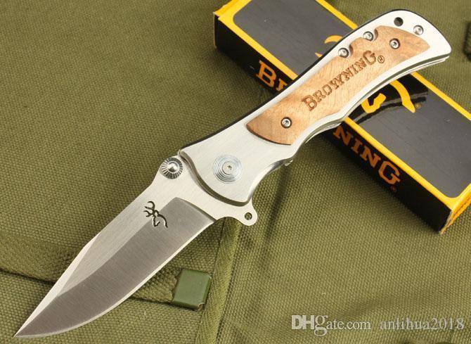 hot sell browning knife big model 338&339&337 combat folder knives outdoor tactical survival knife fruit knife wholesale price & mix order