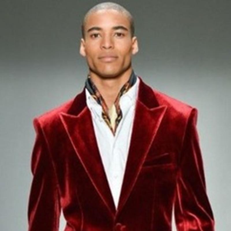 2017 Latest Coat Pant Designs Red Velvet Men Suit Classic Skinny Prom Blazer Stage Simple Custom Tuxedo 2 Piece Jacket men suit