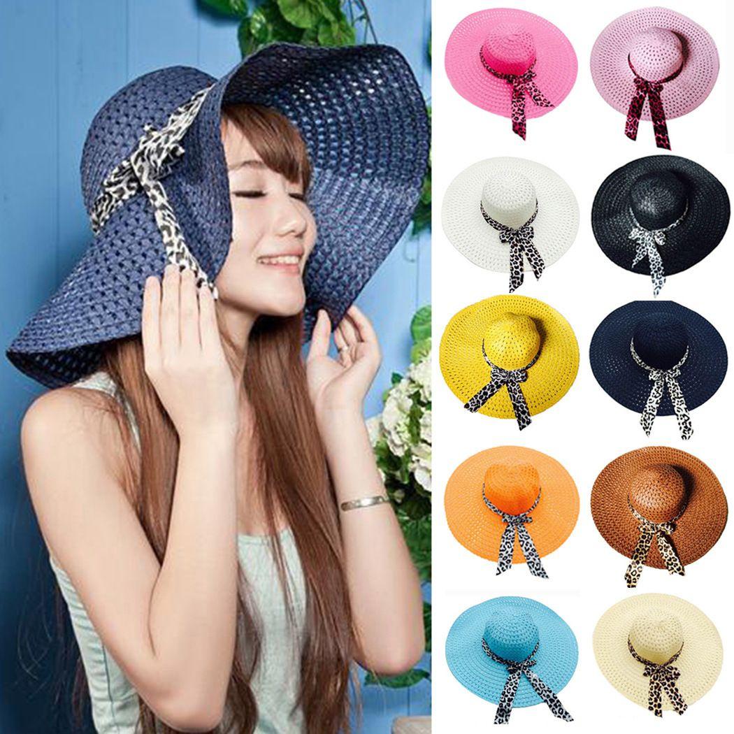 Straw Sun Hat Sweet Retro Straw Hats Hollow Panama Hats Chapeu Feminino Vacation Sun Hats