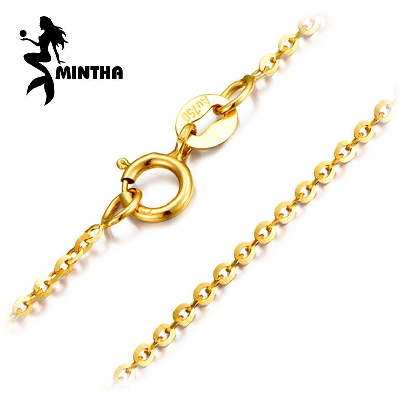 MINTHA Genuine 18K White Yellow Rose Gold Chain Cost Price Sale Pure 18K Gold Trendy Necklace for love Best Gift For women Y1892805