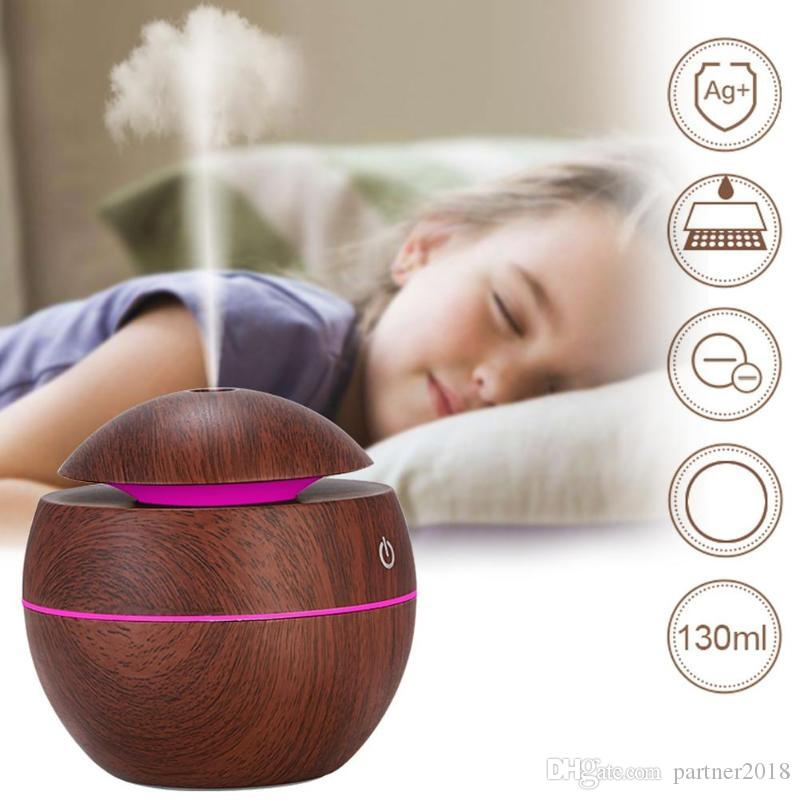 in stock USB Aroma Essential Oil Diffuser Ultrasonic Cool Mist Humidifier Air Purifier 7 Color Change LED Night light for Office Home