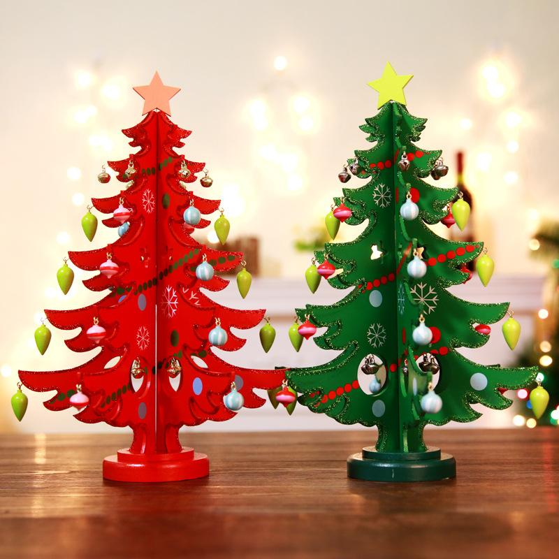 Creative Diy Wooden Christmas Tree Decoration Christmas Gift Ornament Xmas Tree Table Desk Decoration Sml Christmas Gift Bags Cheap Toys For