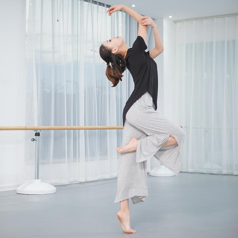2018 nuevo estilo de gran hendidura en ambos lados Pantalones grandes ejercicios de yoga código, pantalones anchos de pierna, trajes de baile, ropa casual. Ropa para el hogar