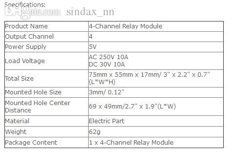 2019 Sindax 5V 4 Channel PLC Relay Module Borad For 51 AVR ARM Electronic 4  Way Relay For 51, AVR, PIC, DSP, ARM, MSP430, TTL Logic From Sindax_nn,