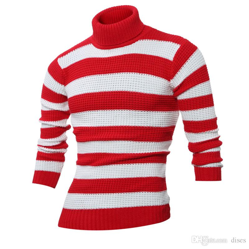 2020 2019 Autumn And Winter New England Fashion Stripe Design Large Size Mens Clothing Mens Turtleneck Sweater M 3xl From Dises 36 55 Dhgate Com