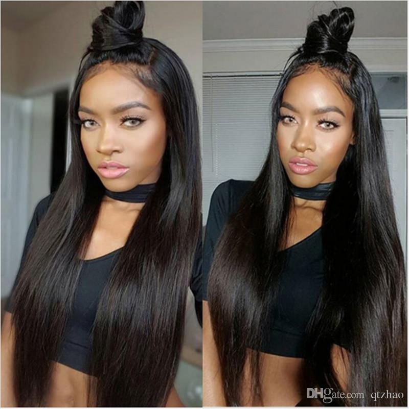 Лучший шелк база кружева фронт парик с волосами младенца монгольские волосы полный шнурок человеческих волос парики Glueless полный парик шнурка для чернокожих женщин