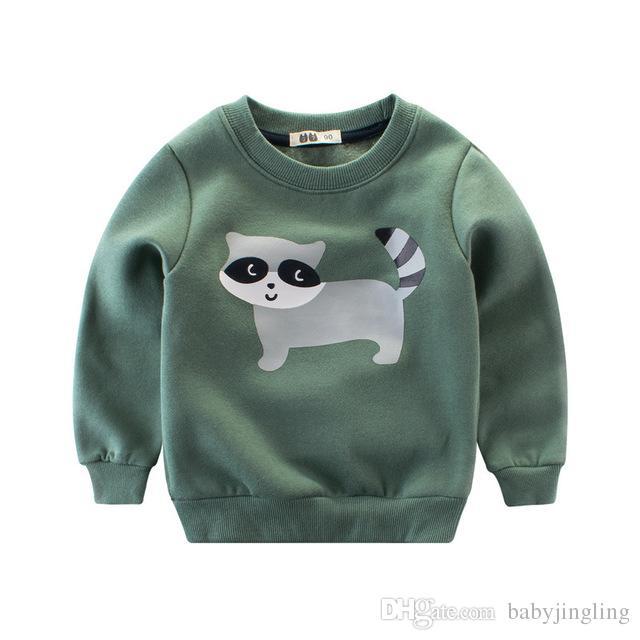 2019 ربيع الخريف أزياء الأطفال سوياتشيرتس الأطفال الرياضة هوديس طفل الفتيان الكرتون معطف الحيوان سترة ملابس الاطفال