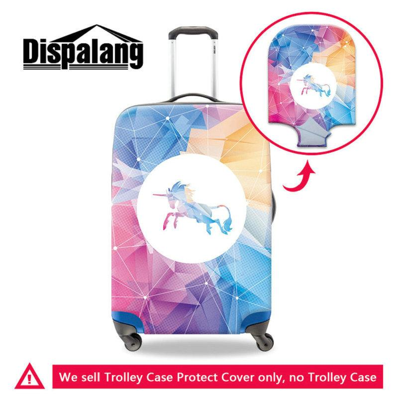 Spandex Traveling Luggage Protector Cover For 18-30 Inch Case Creative Design Unicorn Elastic Trolley Travel Suitcase Bags Dust Rain Covers