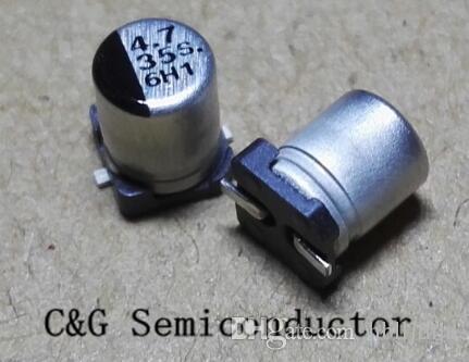 100 sztuk 35V 4.7uf 4 * 5.4mm SMD CHIP Aluminiowe kondensatory elektrolityczne