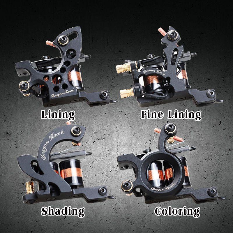 4 قطع المهنية آلة الوشم غرامة بطانة تظليل الوشم بندقية تلوين 10 الأغطية لوازم الوشم WQ446