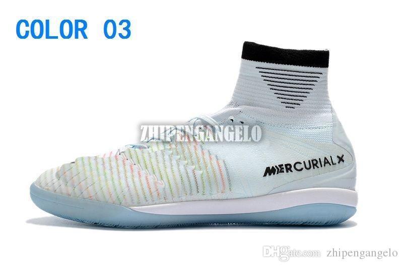 Acquista 2018 Nuovi Uomini Mercurial Superfly CR7 V IC Scarpe Da Calcio Cristiano Ronaldo Neymar JR ACC Superflys Scarpe Da Calcio Interne Tacchetti A