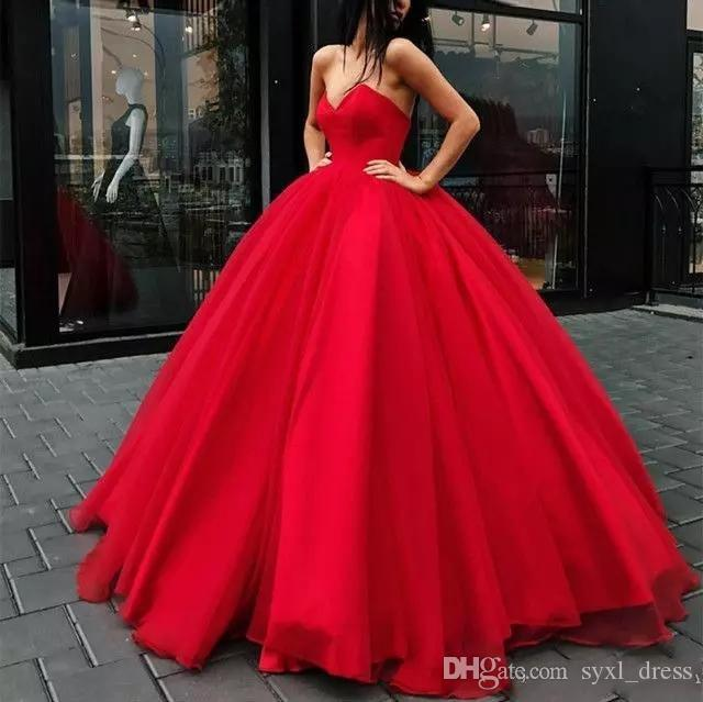 Simple Ball Gown Long Prom Dresses 2018 Lace Up Back Floor Length Formal Dress Evening Party Wear Custom Made