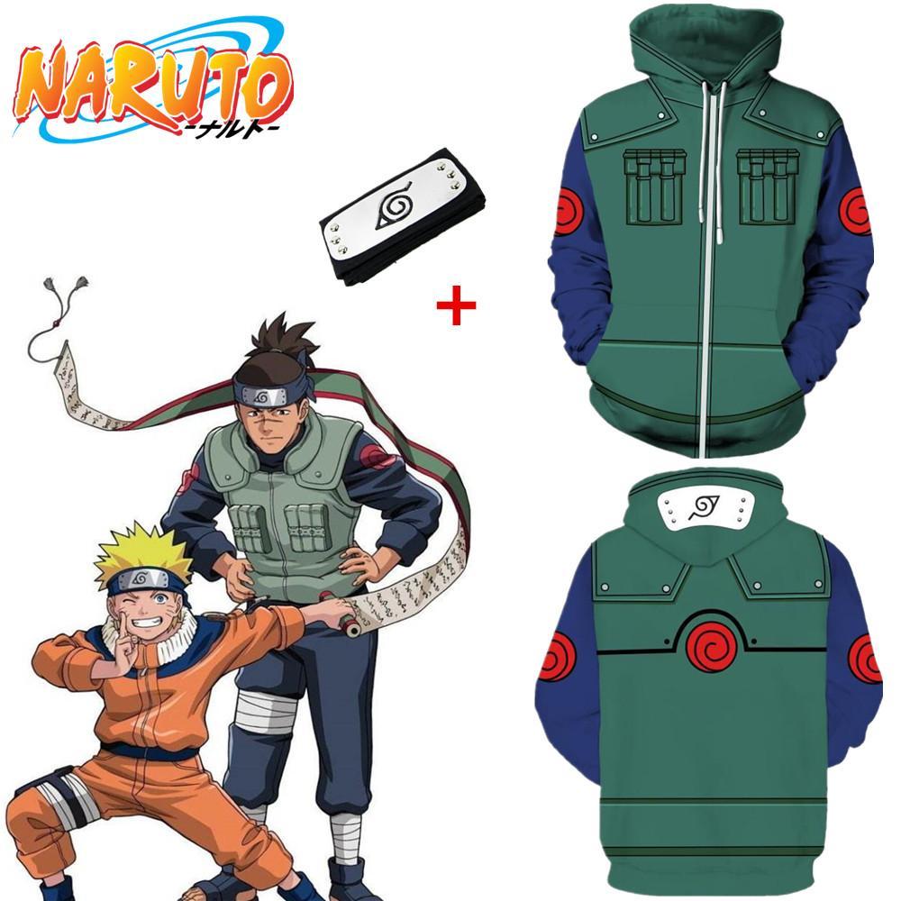 Asya Boyutu Japonya Anime Uzumaki Naruto Cadılar Bayramı 3D Cosplay Kostüm Unisex Beyzbol Ceket Rahat Uzun Kollu Ceket Hoodie Kafa